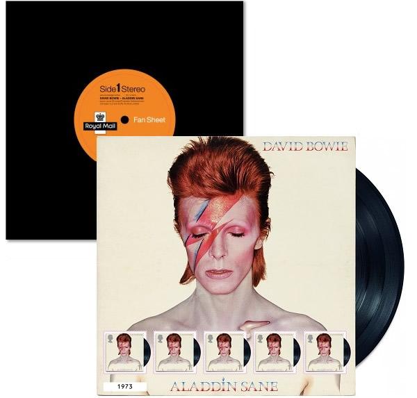 英国ロイヤル・メール記念切手 David Bowie Stamp Set At Royal Mail