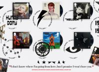 David Bowie Stamp Set at Royal Mail + Barnbrook designs San Marino Bowie Stamps